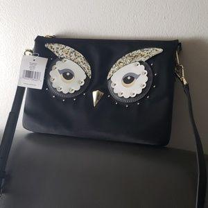 Kate Spade black owl purse